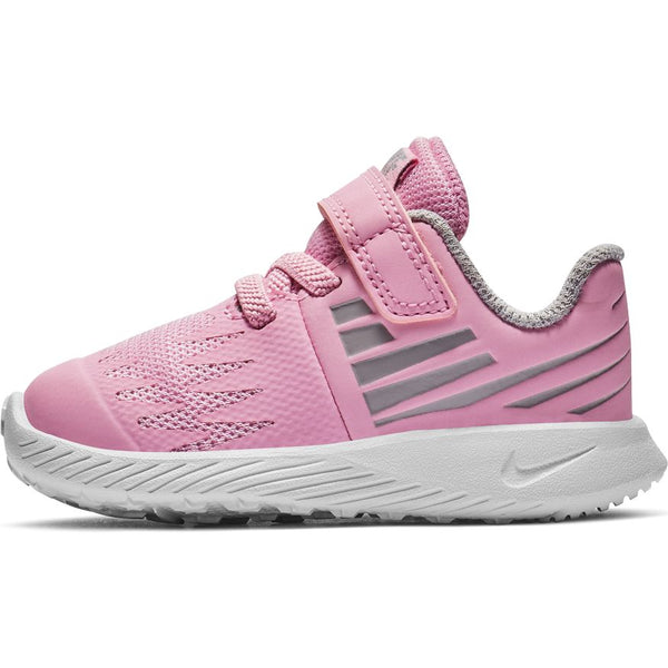 NIKE KIDS STAR RUNNER (TDV) PINK RISE/WHTE-ATMOSPHERE GREY