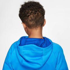 NIKE BOYS THERMA GRAPHIC TRAINING PULLOVER HOODIE BLUE HERO/GAME ROYAL/GAME ROYAL