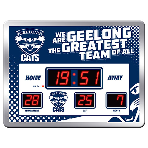 AFL LED SCOREBOARD CLOCK GEELONG CATS