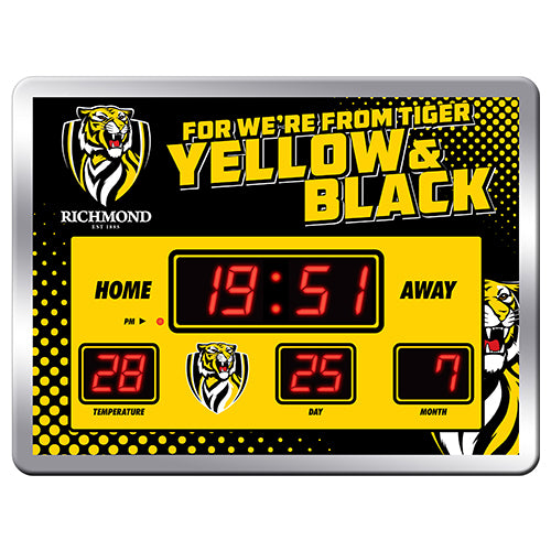 AFL LED SCOREBOARD CLOCK RICHMOND TIGERS