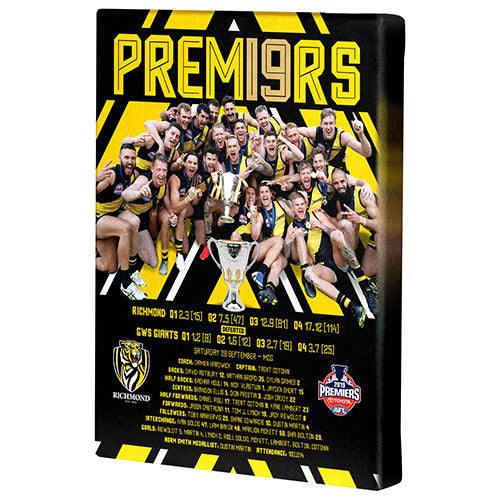 AFL GRAND FINAL 19 CANVAS PHOTO RICHMOND TIGERS