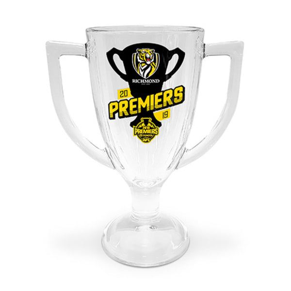 AFL PREMIERS 2019 TROPHY GLASS RICHMOND TIGERS