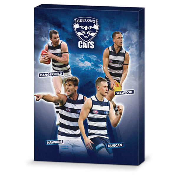 AFL 4 PLAYER CANVAS GEELONG CATS