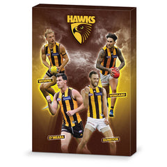 AFL 4 PLAYER CANVAS HAWTHORN HAWKS