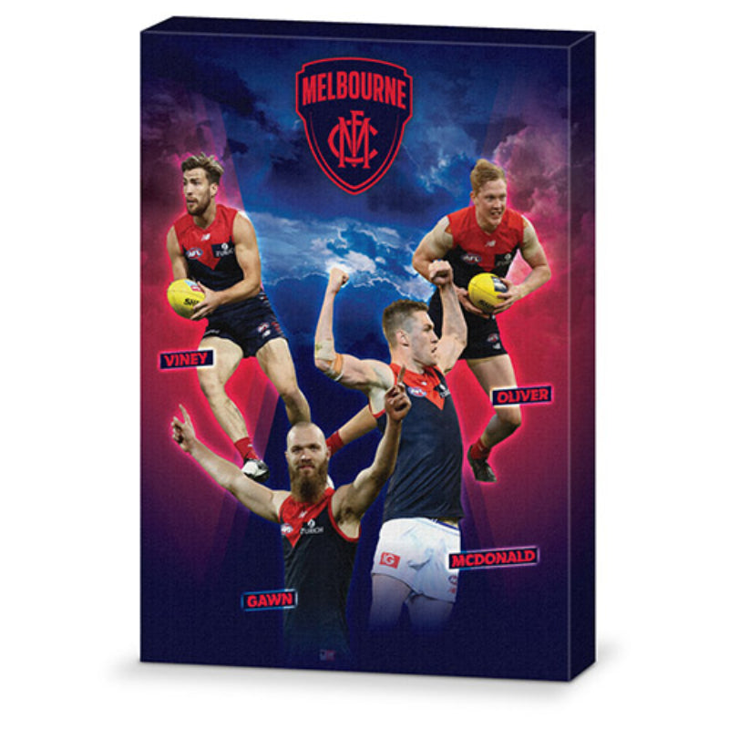 AFL 4 PLAYER CANVAS MELBOURNE DEMONS