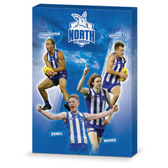AFL 4 PLAYER CANVAS NORTH MELBOURNE KANGAROOS