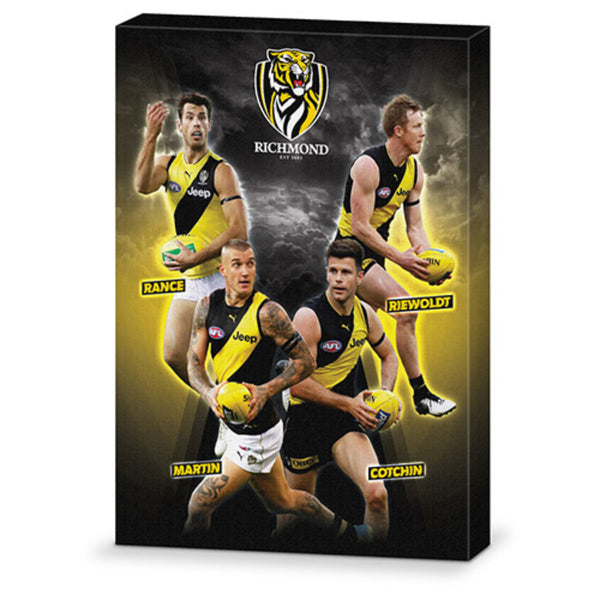 AFL 4 PLAYER CANVAS RICHMOND TIGERS
