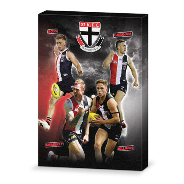 AFL 4 PLAYER CANVAS ST KILDA SAINTS