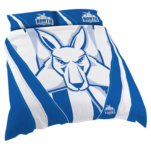 AFL QUEEN QUILT COVER NORTH MELBOURNE KANGAROOS