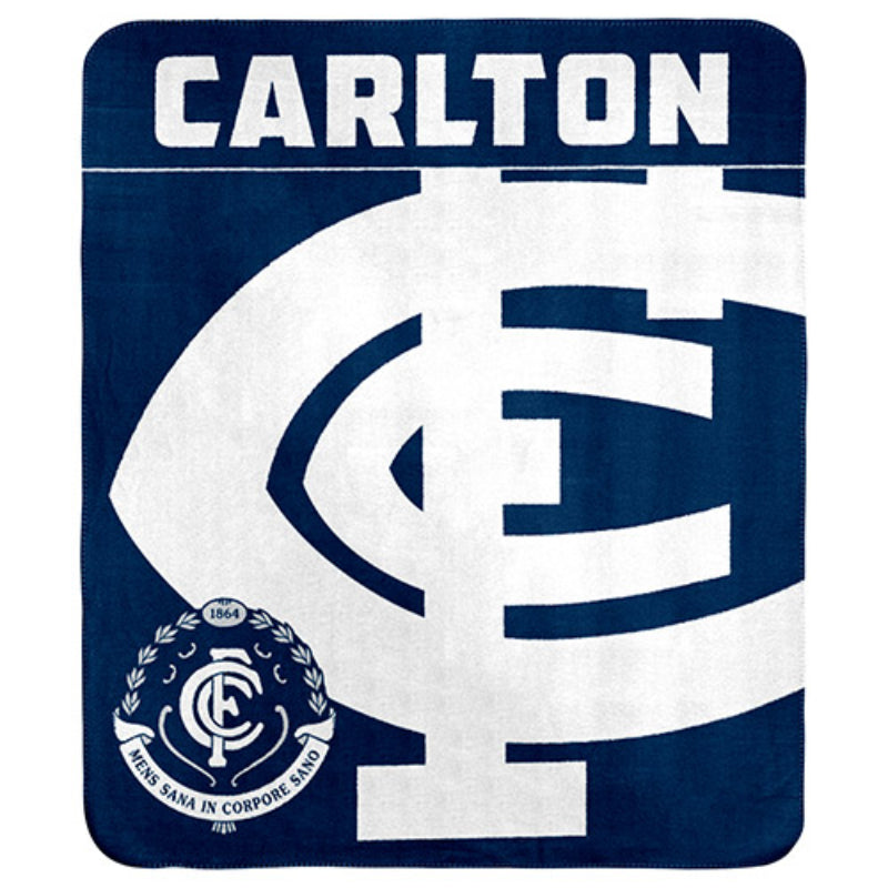 AFL POLAR FLEECE THROW RUG CARLTON BLUES