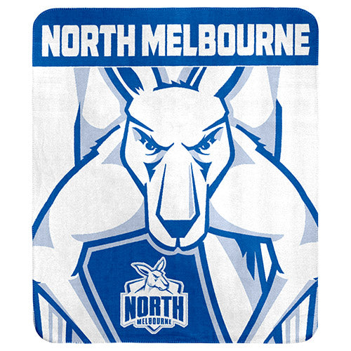 AFL POLAR FLEECE THROW RUG NORTH MELBOURNE KANGAROOS
