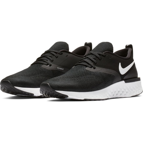 NIKE MENS ODYSSEY REACT 2 FLYKNIT BLACK/WHITE