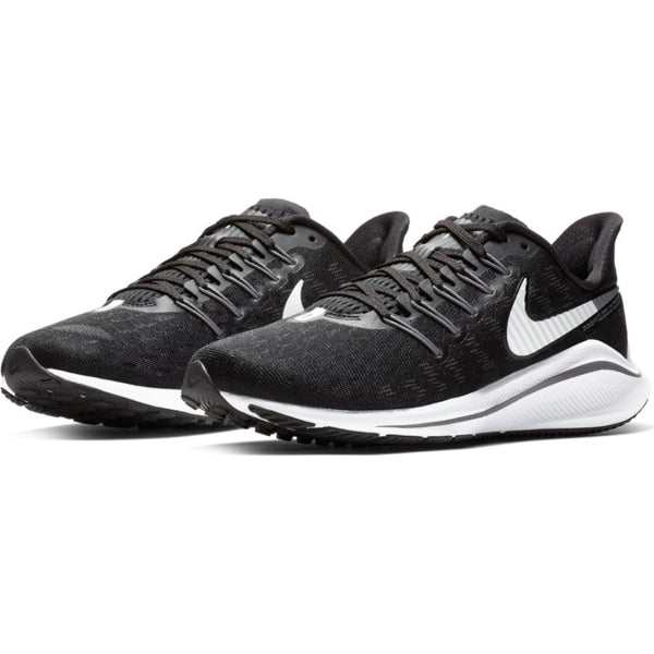 NIKE WOMENS AIR ZOOM VOMERO 14 BLACK/WHITE-THUNDER GREY