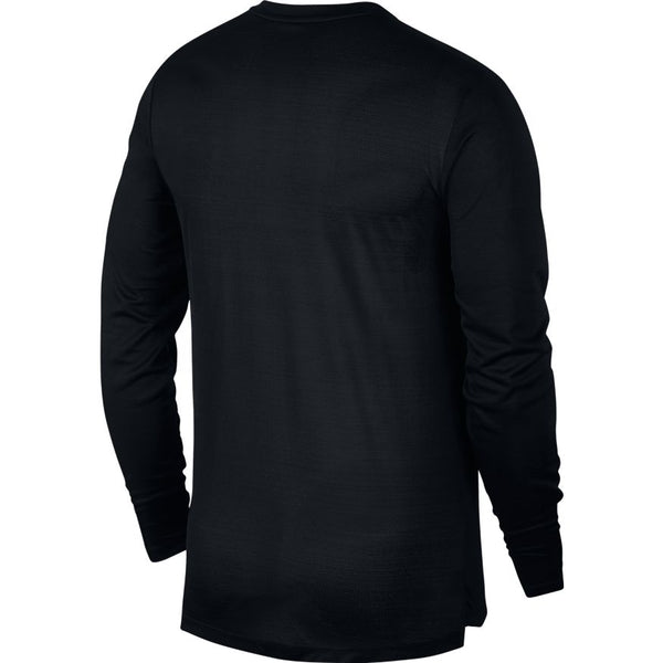 NIKE MENS DRI FIT MILER LONG SLEEVE RUNNING TEE