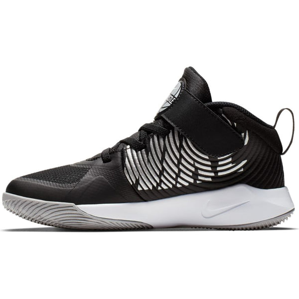 NIKE KIDS TEAM HUSTLE D 9 PS BLACK/METALLIC SILVER-WOLF GREY-WHITE