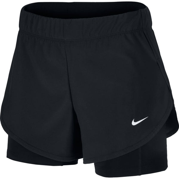 NIKE WOMENS FLEX 2 IN 1 TRAINING SHORTS