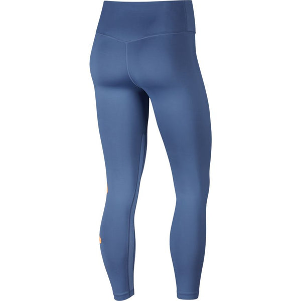 NIKE WOMENS ALL IN ONE JDI TRAINING TIGHTS INDIGO STORM/FUEL ORANGE