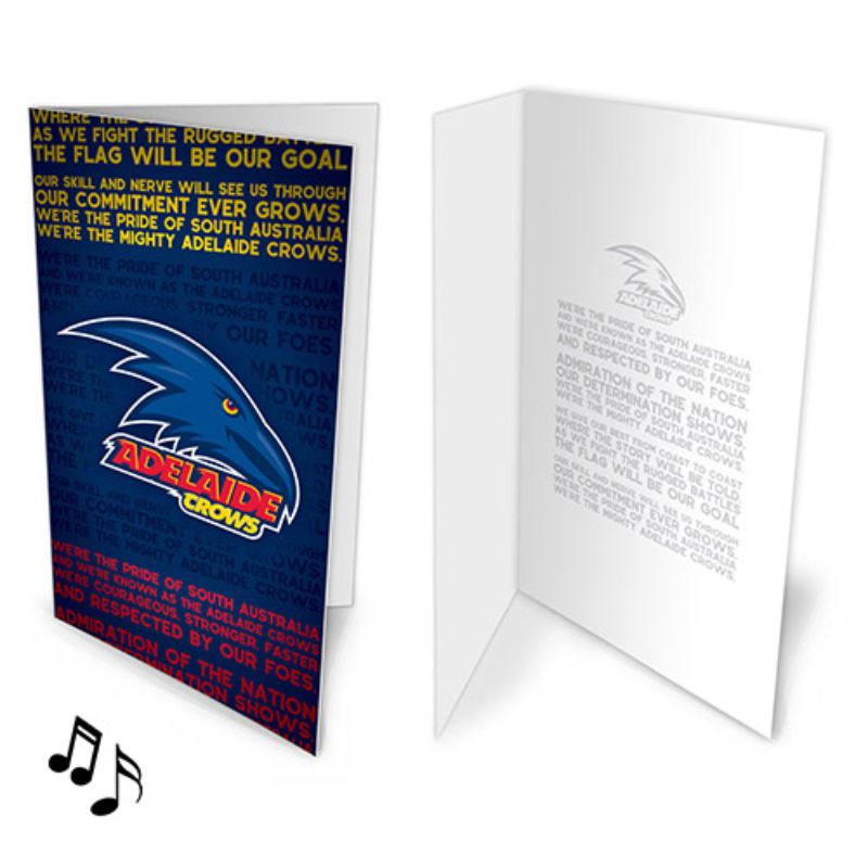 AFL MUSICAL CARD ADELAIDE CROWS