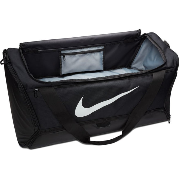 NIKE BRASILIA TRAINING DUFFEL BAG BLACK/BLACK/WHITE