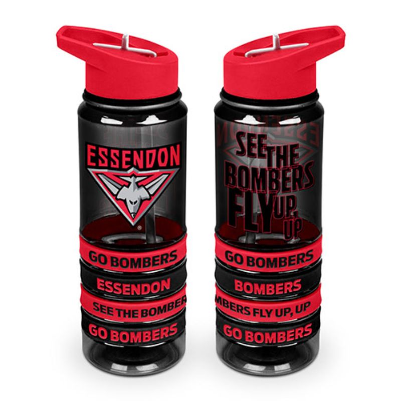 AFL TRITAN DRINK BOTTLE AND BANDS ESSENDON BOMBERS
