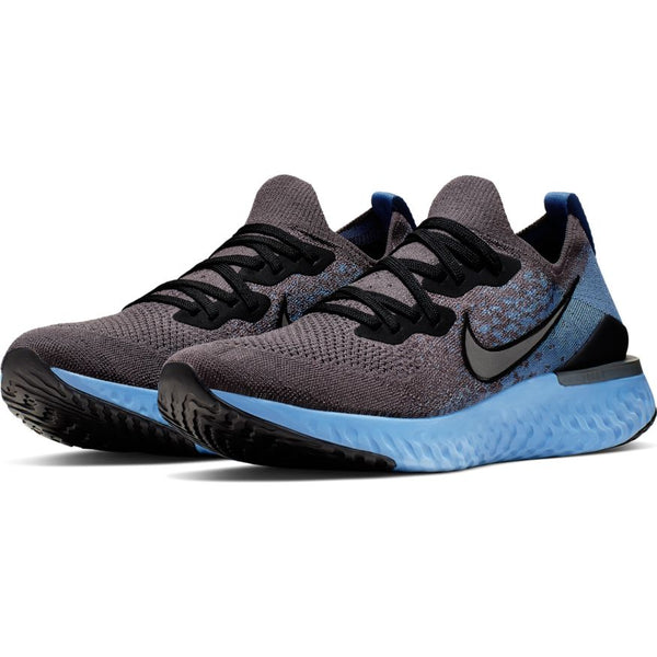 NIKE MENS EPIC REACT FLYKNIT 2 THUNDER GREY/BLACK-OCEAN FOG-ASHEN SLATE