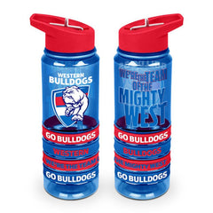 AFL TRITAN DRINK BOTTLE AND BANDS WESTERN BULLDOGS