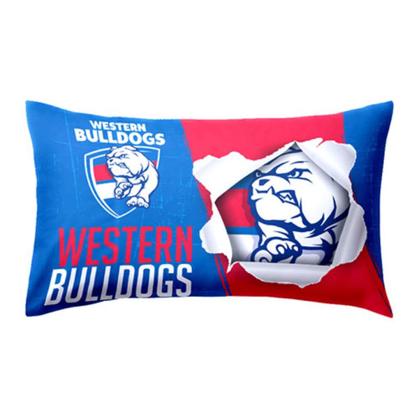 AFL PILLOW CASE WESTERN BULLDOGS