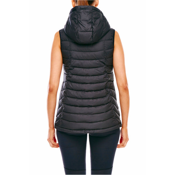 CHAMPION WOMENS PUFFER VEST BLACK