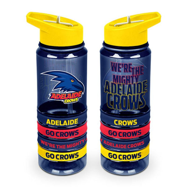 AFL TRITAN DRINK BOTTLE AND BANDS ADELAIDE CROWS
