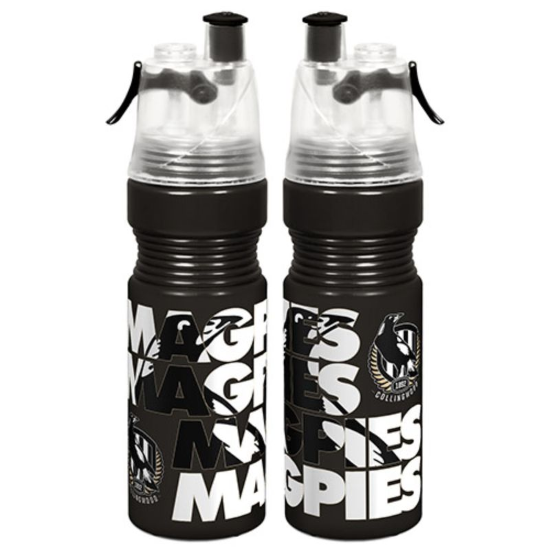 AFL MISTING DRINK BOTTLE COLLINGWOOD MAGPIES