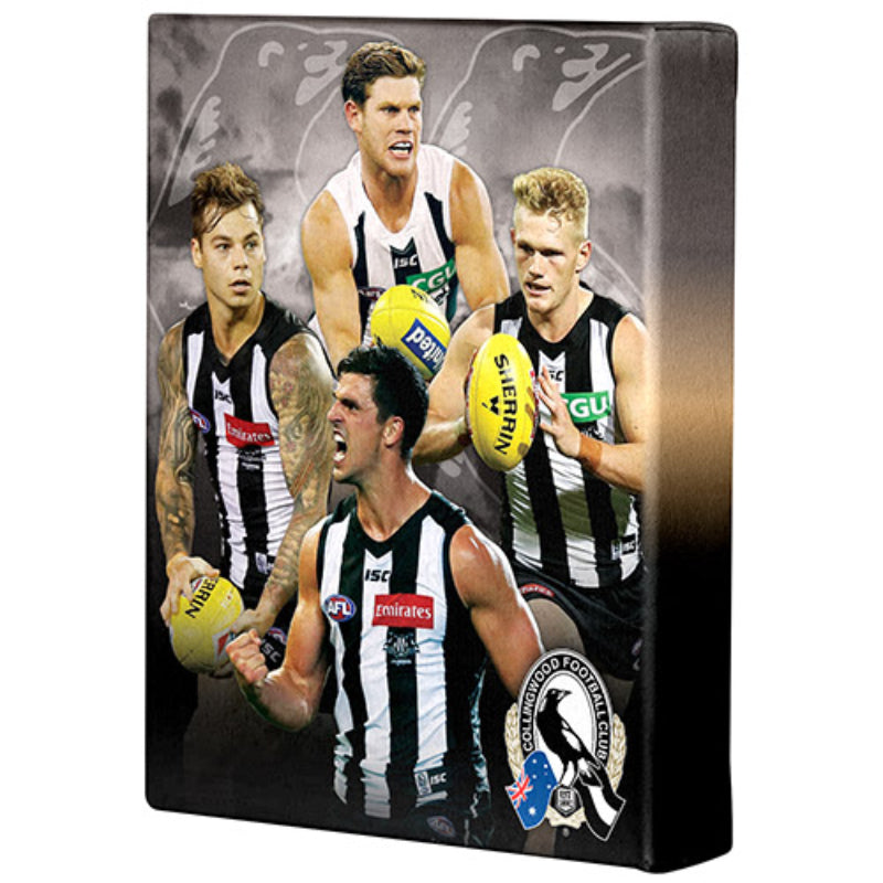 AFL PLAYER CANVAS COLLINGWOOD MAGPIES
