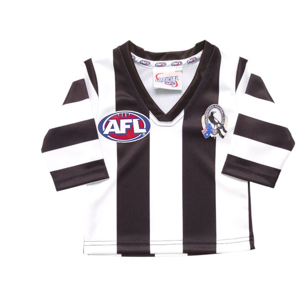 AFL REPLICA LONGSLEEVE TODDLER GUERNSEY COLLINGWOOD MAGPIES