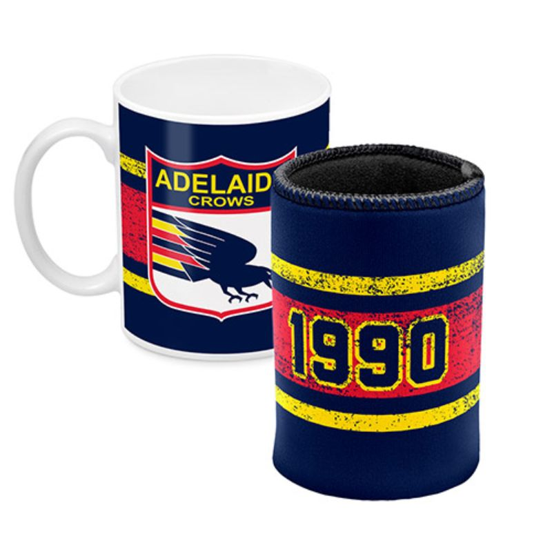 AFL MUG AND CAN COOLER ADELAIDE CROWS
