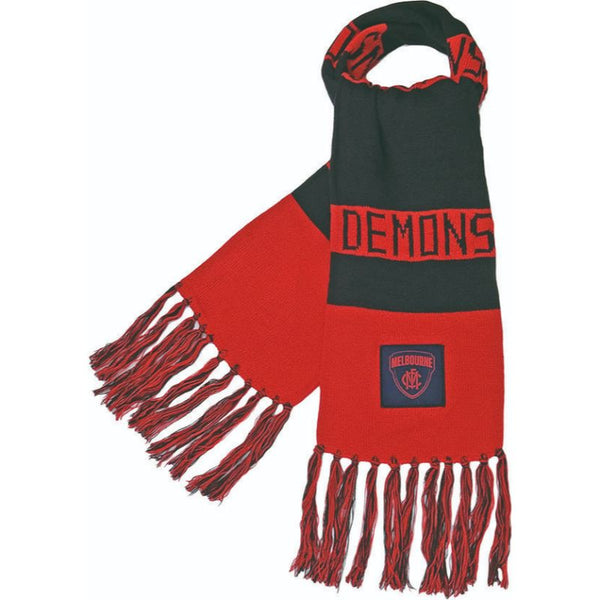 AFL BAR SCARF MELBOURNE DEMONS