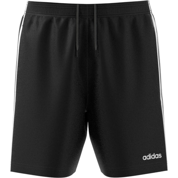 ADIDAS MENS ESSENTIALS 3 STRIPE CHELSEA SHORT BLACK WHITE