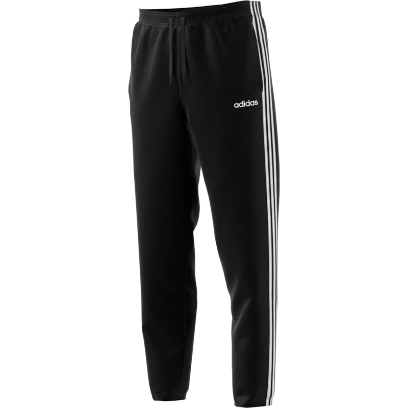 ADIDAS MENS ESSENTIALS 3 STRIPES TAPERED FRENCH TERRY PANT BLACK/WHITE