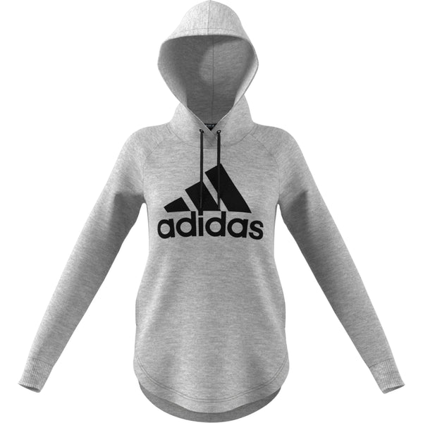 ADIDAS WOMENS MUST HAVES BADGE OF SPORT OVER HEAD HOODIE GREY/BLACK