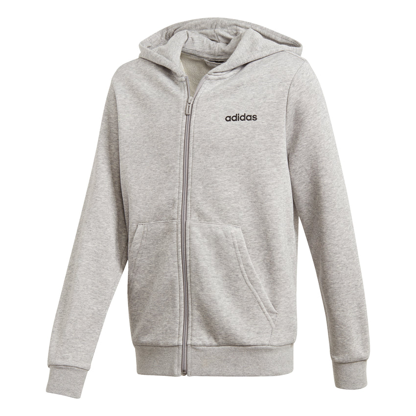 buy adidas Essentials Linear Full Zip Hoodie Girls Grey
