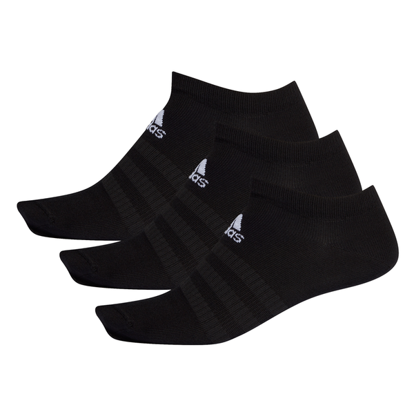 ADIDAS 3 PAIR LOW CUT SOCKS