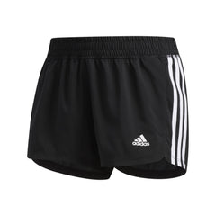 ADIDAS WOMENS PACER 3 STRIPE WOVEN SHORT