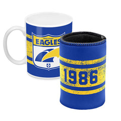 AFL MUG AND CAN COOLER WEST COAST EAGLES