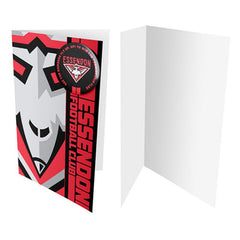 AFL BADGE CARD ESSENDON BOMBERS