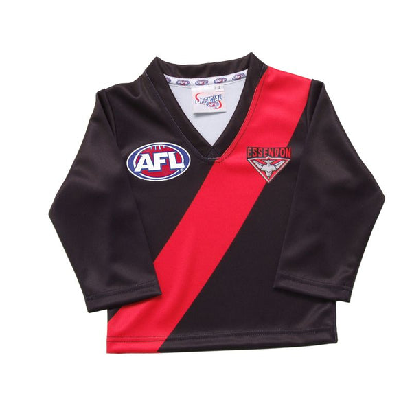 AFL REPLICA LONGSLEEVE TODDLER GUERNSEY ESSENDON BOMBERS