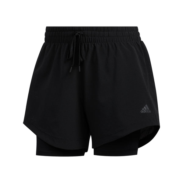 ADIDAS WOMENS 2 IN 1 WOVEN SHORT