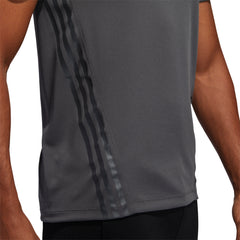 ADIDAS MENS AEROREADY 3 STRIPE TEE