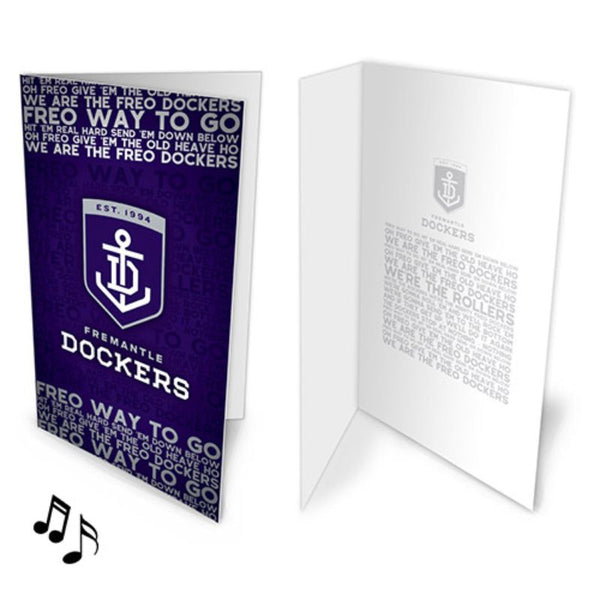 AFL MUSICAL CARD FREMANTLE DOCKERS