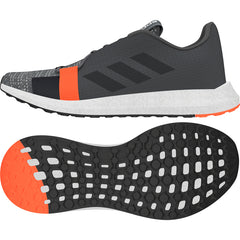 ADIDAS MENS SENSEBOOST GO GREY SIX/CORE BLACK/SOL RED