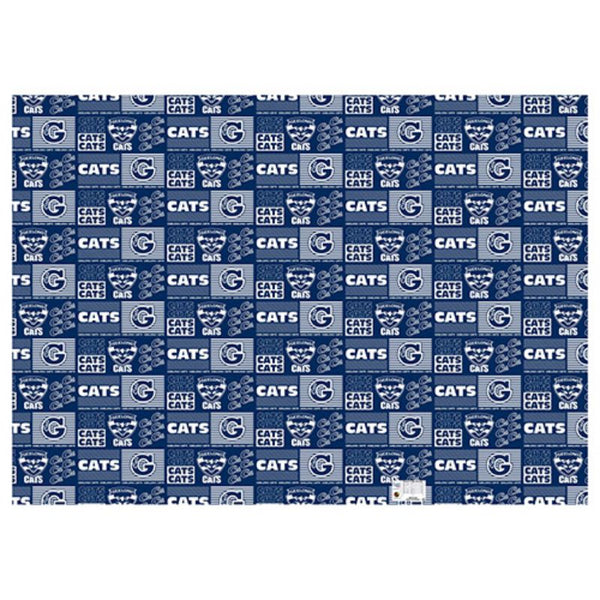AFL WRAPPING PAPER GEELONG CATS