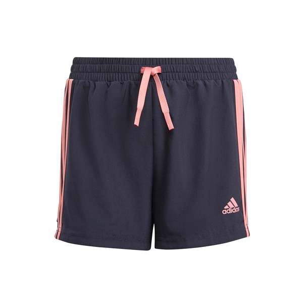 ADIDAS GIRLS DESIGNED TO MOVE 3-STRIPE SHORT
