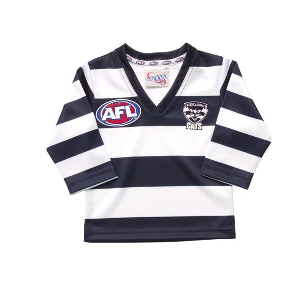 AFL REPLICA LONGSLEEVE TODDLER GUERNSEY GEELONG CATS